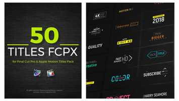 Free download FCPX Titles 50 | Apple Motion Files video and edit with RedcoolMedia movie maker MovieStudio video editor online and AudioStudio audio editor onlin