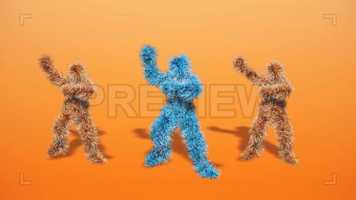 Free download Funny Hairy Dancers Do Gangnam Stock Motion Graphics video and edit with RedcoolMedia movie maker MovieStudio video editor online and AudioStudio audio editor onlin