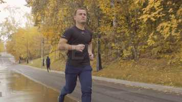 Free download Man Jogging In The Park Stock Video video and edit with RedcoolMedia movie maker MovieStudio video editor online and AudioStudio audio editor onlin
