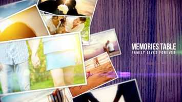 Free download Memories Table | Apple Motion Files video and edit with RedcoolMedia movie maker MovieStudio video editor online and AudioStudio audio editor onlin