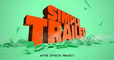 Free download Simple Trailer | After Effects Titles - Envato elements video and edit with RedcoolMedia movie maker MovieStudio video editor online and AudioStudio audio editor onlin
