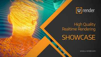 Free download Stripy Head - U-RENDER Real-time Rendering Showcase video and edit with RedcoolMedia movie maker MovieStudio video editor online and AudioStudio audio editor onlin
