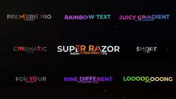 Free download Super Razor Text Premiere Pro Presets video and edit with RedcoolMedia movie maker MovieStudio video editor online and AudioStudio audio editor onlin