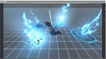 Unity Cartoon Lightning Strike