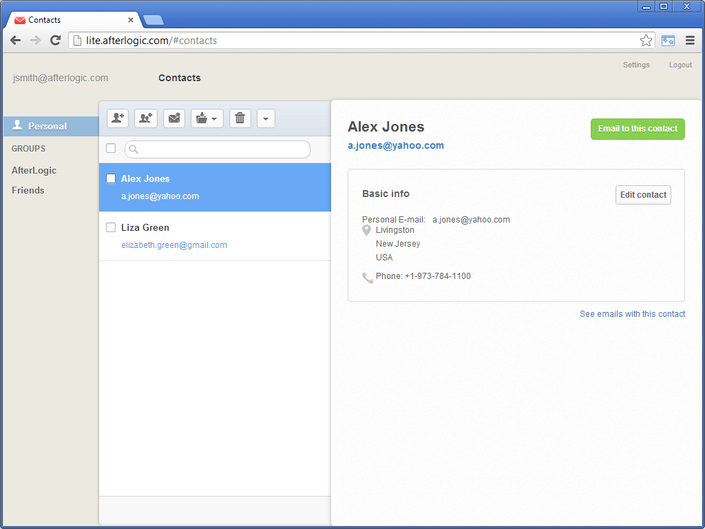 AfterLogic WebMail Lite 7