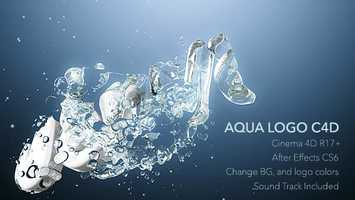 Free download Aqua Logo C4D Animation | Cinema 4D Templates - Videohive video and edit with RedcoolMedia movie maker MovieStudio video editor online and AudioStudio audio editor onlin