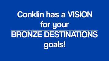 Free download Conklin Has a Vision for Your Bronze Destinations Goals video and edit with RedcoolMedia movie maker MovieStudio video editor online and AudioStudio audio editor onlin