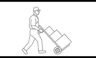Free download Delivery Worker Pushing Hand Cart with Boxes Drawing 2D Animation video and edit with RedcoolMedia movie maker MovieStudio video editor online and AudioStudio audio editor onlin