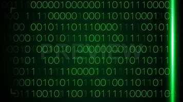 Digital Binary Data Scan Stock Motion Graphics
