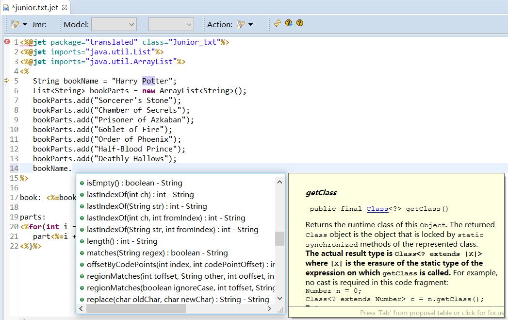 Jmr - Java Code Generator