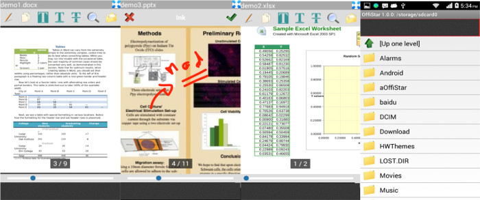 OffiStar Word Excel Powerpoint für Android