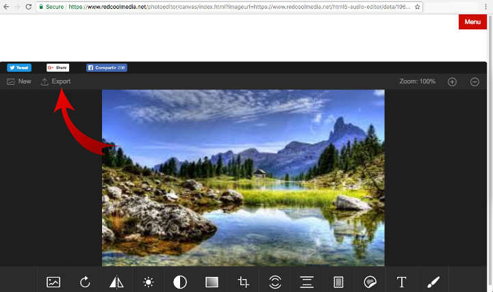 File manager PhotoStudio online image editor