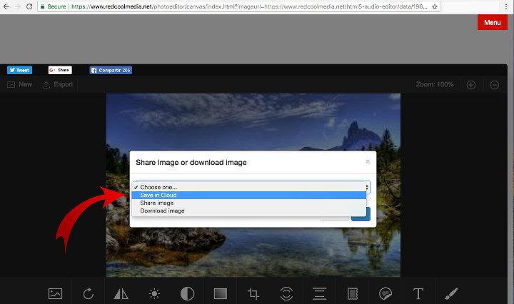 save your PhotoStudio online images in your private cloud
