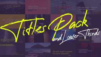 Titles and Lower Thirds Pack | After Effects Project Files