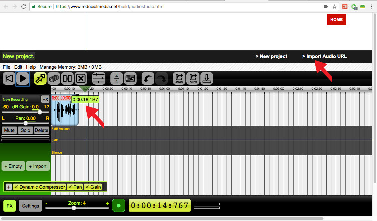 Audio composition audiostudio online
