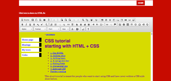 WebStudio HTML editor online for webpages