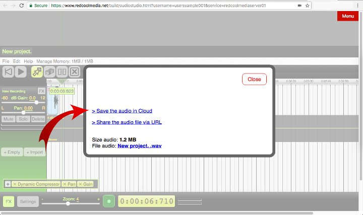 save your AudioStudio online audios in your private cloud