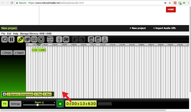 Record your own audio with your microphone audiostudio online