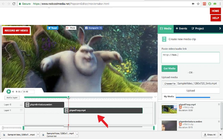 upload video to moviestudio