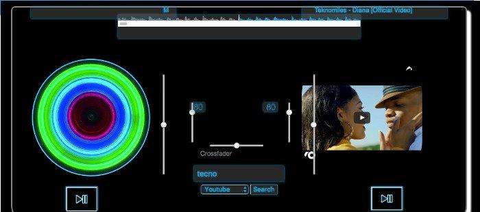Use free DJMusic music mixer online App - RedcoolMedia